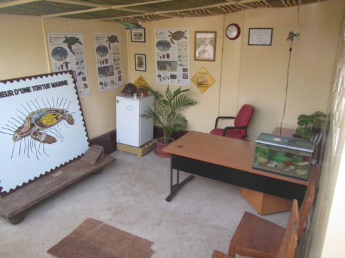 Reception and information office of the African Chelonian Institute - Rhodin Center - Senegal